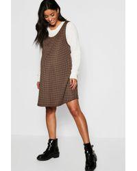 97b8811db Lyst - Gap Dog Plaid Mix-fabric Dress in Gray