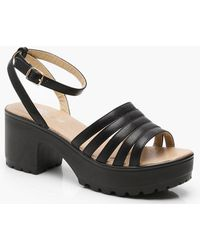 Boohoo - Caged Cleated Sandals - Lyst
