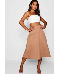 Boohoo - Plain Full Circle Midi Skirt - Lyst
