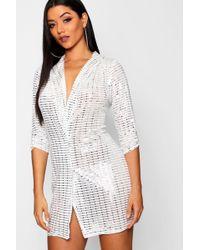 Boohoo - Sequin Blazer Dress - Lyst
