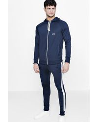 Boohoo - Skinny Fit Man Tracksuit With Side Panels - Lyst