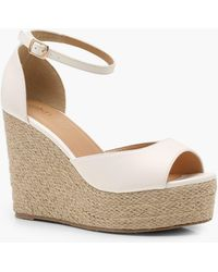 Boohoo - Espadrille 2 Part Wedges - Lyst