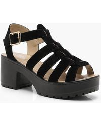Boohoo - Cleated Fisherman Sandals - Lyst