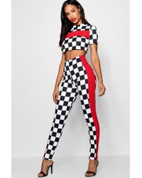Boohoo - Checkerboard Trouser Co-ord Set - Lyst
