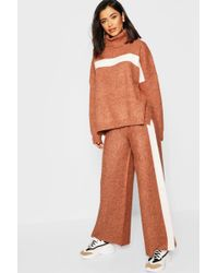 Boohoo - Premium Heavy Knitted Sports Athleisure Set - Lyst