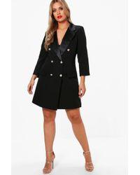 Boohoo - Plus Button Tuxedo Dress - Lyst