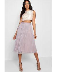 Boohoo - Boutique Jacquard Top Midi Skirt Co-ord Set - Lyst