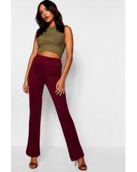 8837ad26d48b Boohoo Pu Pocket Leather Look Slim Leg Trousers in Pink - Lyst
