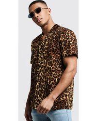 5c599efec3ac Guess Men's Leopard-print Shirt in Yellow for Men - Lyst