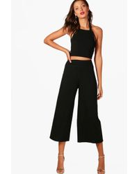 Boohoo Tall Wide Leg Trouser And Strappy Crop Limited Sv84Gkdj4