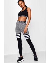 1fd0b1279ee7b Boohoo - Fit 'man' Stripe Detail Panel Gym Legging - Lyst
