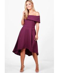 8c78f714de41 Boohoo Plus Double Layer Midi Dress in Pink - Lyst