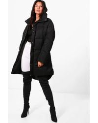 Boohoo - Faye Boutique Funnel Neck Padded Jacket - Lyst