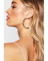 Boohoo - Chunky 60mm Hoop Earrings - Lyst