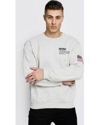 Boohoo - Nasa License Sweatshirt - Lyst