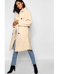 83ee449b3 Oversized Double Breasted Faux Fur Teddy Coat