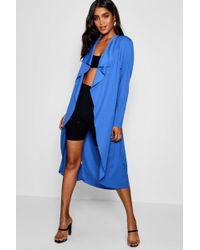 Boohoo - Waterfall Duster - Lyst