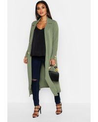 Boohoo - Maternity Longline Button Detail Duster - Lyst