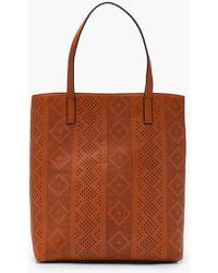 Boohoo | Lily Laser Cut Shopper Bag | Lyst