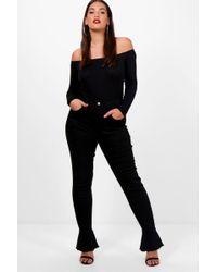 Boohoo | Plus Laura Frill Bottom Stretch Skinny Jean | Lyst