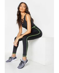 Boohoo - Fit Yoga Leotard - Lyst