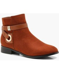 Boohoo - Wrap Strap Chelsea Ankle Boots - Lyst