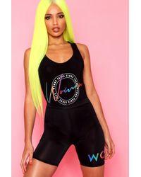 Boohoo - Woman Print Slinky Cycle Short - Lyst