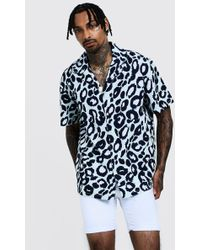 fe3e851f4f0e Ted Baker. BoohooMAN - Leopard Print Oversized Short Sleeve Revere Shirt -  Lyst