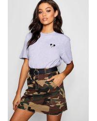 Boohoo - Disney Mickey Pocket Print T-shirt - Lyst