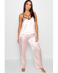 Boohoo - Daisy Ring & Strap Detail Cami & Trouser Set - Lyst