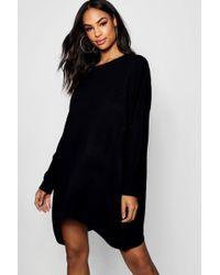 fd2c8592c9 Lyst - ASOS Asos Design Curve Boyfriend T-shirt Dress With Pocket in ...
