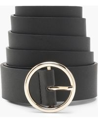 Boohoo - Plus Circle Ring Boyfriend Belt - Lyst