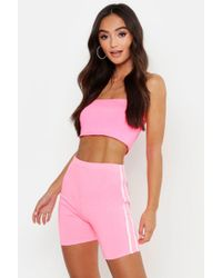 6348e9c6dffa Boohoo Cutie With A Booty Fishnet Cycling Shorts in Black - Lyst