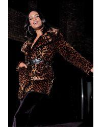Boohoo - Leopard Faux Fur Coat - Lyst