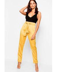 Boohoo - Woven Satin Slimline Trousers - Lyst