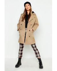 Boohoo zweireihiger mantel