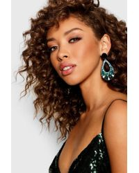 Boohoo - Resin Gem Statement Earrings - Lyst