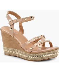 Boohoo - Studded Strappy Wedges - Lyst
