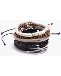 Boohoo - Plait Woven Stack Bracelet - Lyst