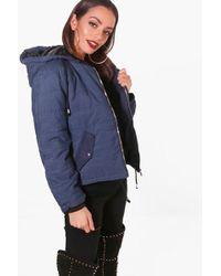 Boohoo - Harriet Hooded Padded Jacket - Lyst