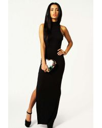 Boohoo - Turtle Neck Cut Out Back Detail Maxi Dress - Lyst