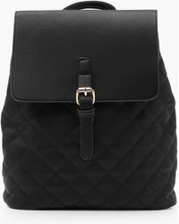 Boohoo Jessica Quilted Rucksack in Black   Lyst : black quilted rucksack - Adamdwight.com
