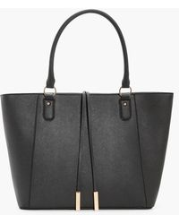Boohoo | Emma Structured Cross Hatch Tote Bag | Lyst