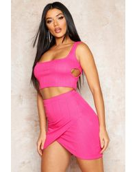 a1f7d2a95214fb Missguided Chara Bandage Waist Crop Top in Cobalt Blue in Blue - Lyst