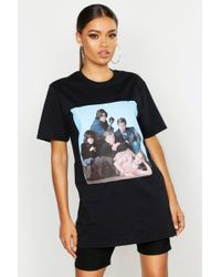 4789c9b99 Boohoo Cher Oversized Licensed Tee in Black - Lyst