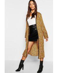 Boohoo - Leopard Print Kimono - Lyst