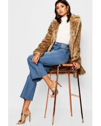 Boohoo - Faux Fur Coat - Lyst