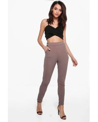Boohoo - Basic Crepe Stretch Skinny Pants - Lyst