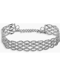 Boohoo - Ring Detail Diamante Choker - Lyst