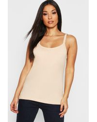 60d79733b68 Boohoo Maternity Crepe Scalloped Hem Cami Top in White - Lyst